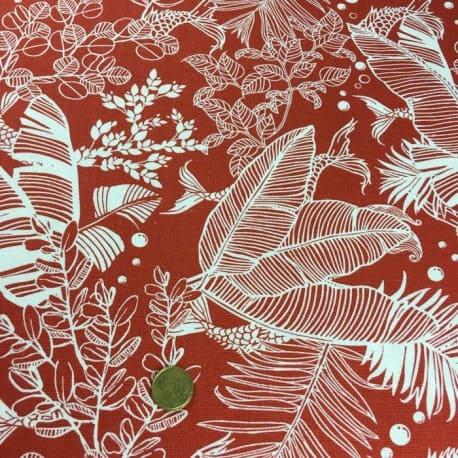 Tissu Viscose et Lin Safari Morning Terra Cotta x10cm