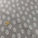 Tissu Viscose et Lin Taupe  x10cm