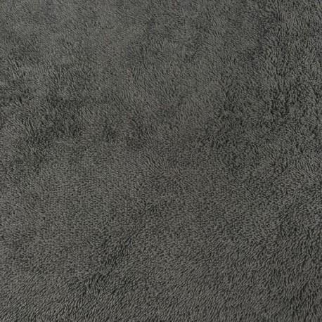 Tissu éponge Gris Anthracite x10cm
