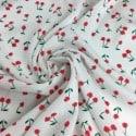 Tissu Viscose Cerise x10cm