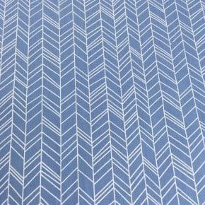 Popeline chevron Bleu x 10cm