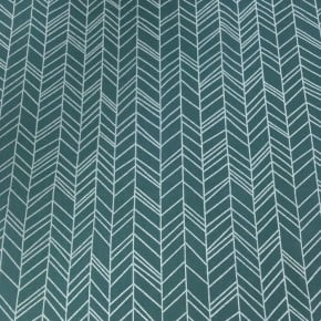 Popeline chevron Menthe x 10cm