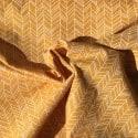 Popeline chevron Ocre x 10cm