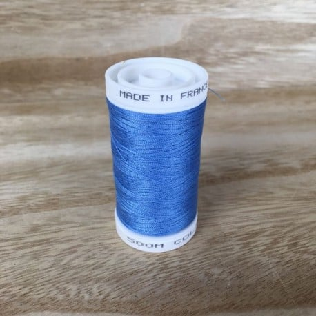 Fil à coudre Made in France polyester Indigo 500m