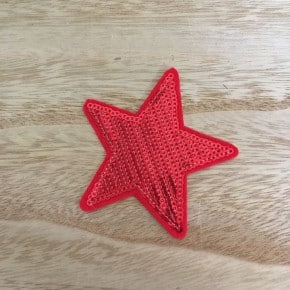 Ecusson Thermocollant Etoile Sequin Rouge