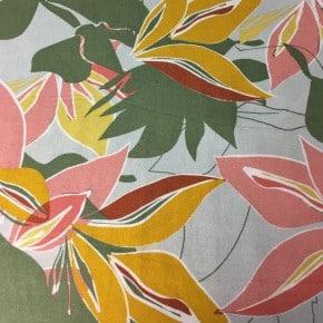 Tissu Viscose et Lin Les Plantes Sable  x10cm