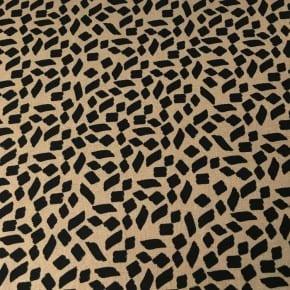 Tissu Viscose et Lin Shapes Camel  x10cm