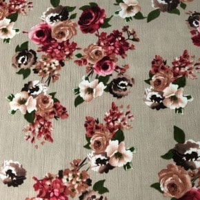 Tissu crêpe de Viscose Romantique Sable x10cm