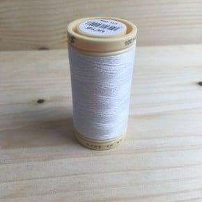 Fil à coudre Coton Blanc 500m