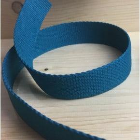 Sangle coton Bleu Canard x1m