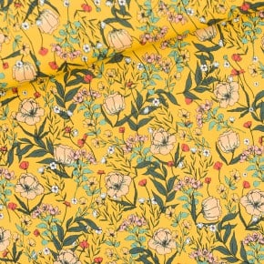Tissu Lycra Summer Flowers Jaune See You At Six x 10cm