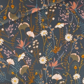 Tissu Gabardine Flower Field See You At Six x 10cm