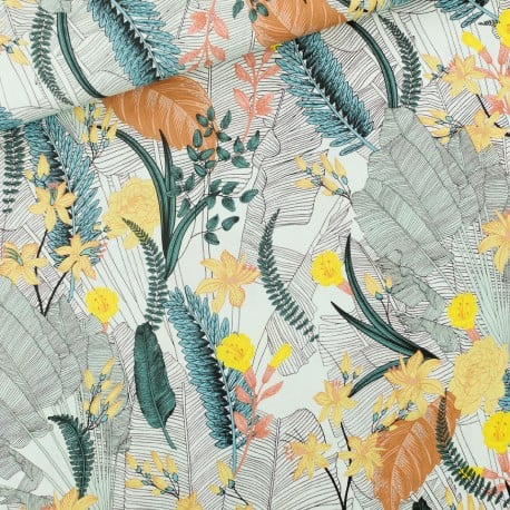 Tissu Viscose Tropic Flowers See You At Six x10cm