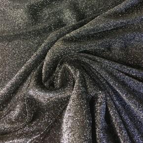 Jersey Noir Lurex x10cm