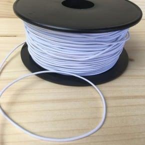 Elastique à chapeau Blanc x1m