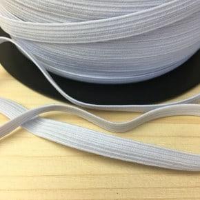 Elastique Tresse Blanc x1m