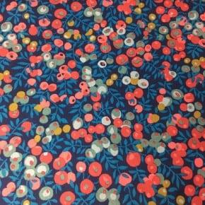 Tissu liberty Wiltshire  Bleu x 10cm