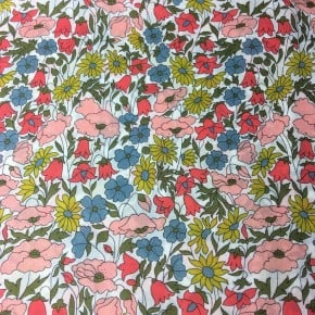 Tissu liberty Poppy and Daisy Bleu x 10cm