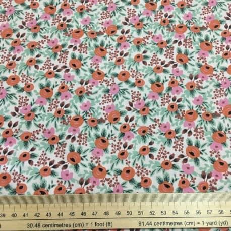 Tissu Coton Cotton+Steel Primavera Petite Fleur Rouge x10cm
