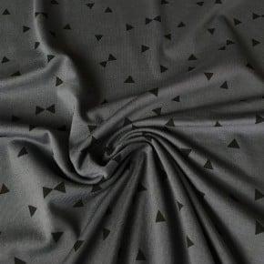 Jersey Coton Gris Triangle  x10cm