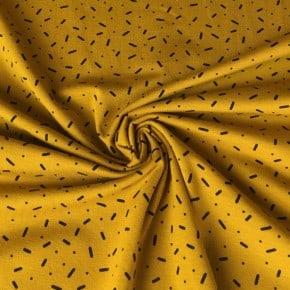 Jersey Coton Vermicelle Ocre  x10cm
