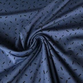 Jersey Coton Vermicelle Indigo  x10cm