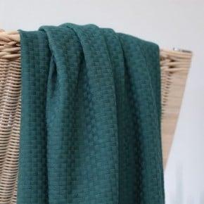"""Tissu Coton Bio """"Osier"""" green pine mind the Maker x10cm"""