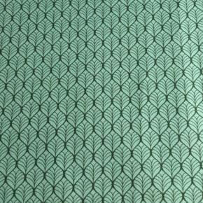 Popeline Coton Palms Mint Oeko Tex x 10cm