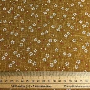 Tissu Japonais Sevenberry Coton Ocre x10cm