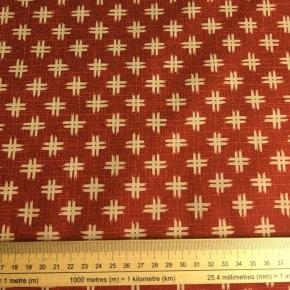 Tissu Japonais Kurenai Coton Brique x10cm