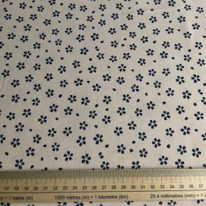 Tissu Japonais Sevenberry Sakura Coton rose et marine  x10cm