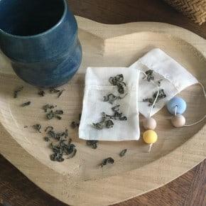 Lot de 2 Sachets de thé réutilisables JB