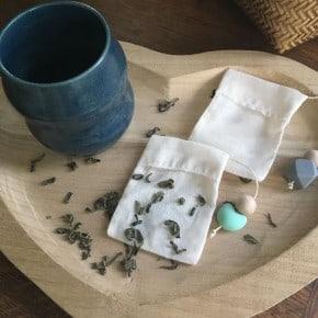 Lot de 2 Sachets de thé réutilisables GM