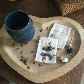 Lot de 2 Sachets de thé réutilisables NB