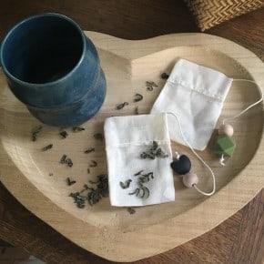 Lot de 2 Sachets de thé réutilisables NK
