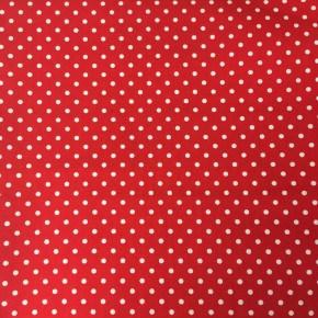 Tissu Popeline Petit Pois Rouge  x10cm