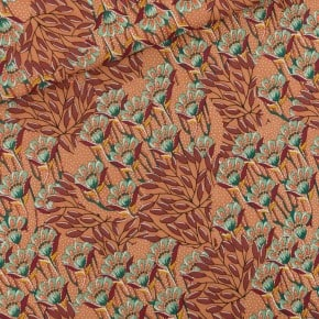 Tissu Viscose Gilly Flowers Brun Coup de Soleil See You At Six x10cm