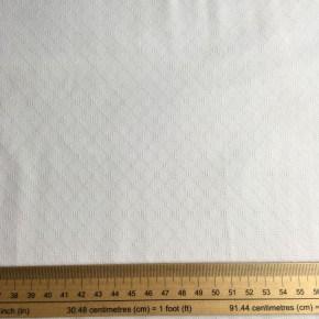Tissu Coton Broderie Blanc Fanny  x10cm