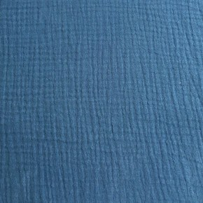 Double Gaze de coton Bleu Indigo x 10cm