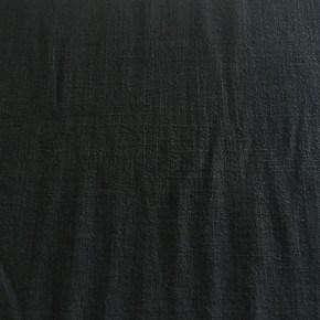 Tissu Viscose et Lin Uni noir  x10cm