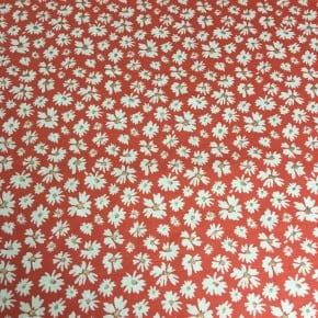 Jersey Coton Salomé Corail et or  x10cm