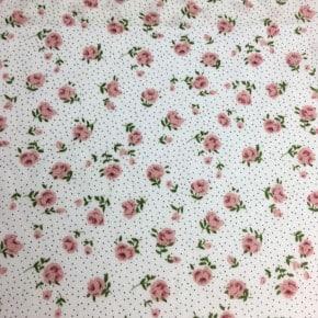 Tissu Viscose Janie Blanc x10cm