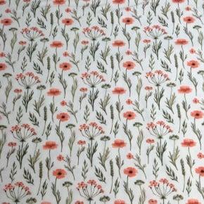 Jersey Coton Pavot Blanc  x10cm
