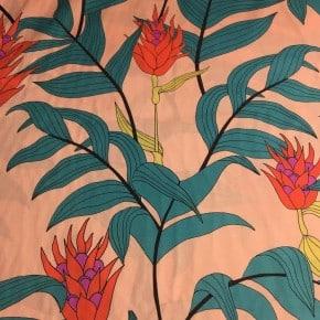Tissu Batiste de coton Tropical Stems x10cm