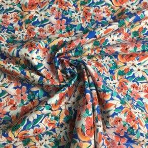 Tissu Batiste de coton Belles Fleurs x10cm