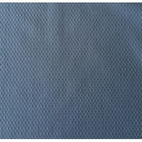 Tissu Jacquard Coton Uni Bleu x10cm