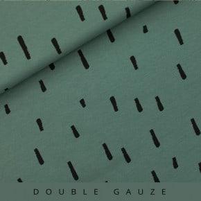 Double Gaze swipes vert armoise See You At Six x10cm