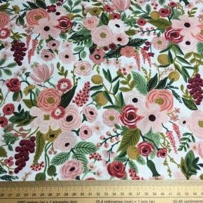 Tissu Coton Cotton+Steel Garden Party Rose x10cm