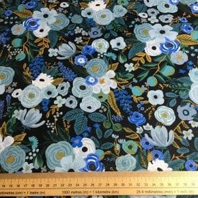 Tissu Coton Cotton+Steel Garden Party Blue x10cm