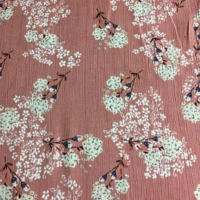 Tissu crêpe de Viscose Annie rose x10cm